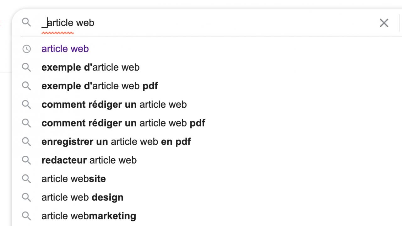 Deuxième recherche Google Article Web