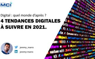 Cover article 4 tendances digitales à suivre en 2021 par Jeremy Marro