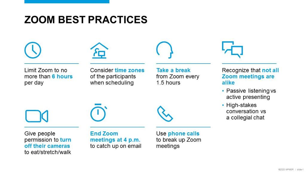 Best practices to fight Zoom Fatigue
